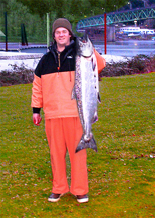 Salmon Caught On Guides Choice Fish Bait