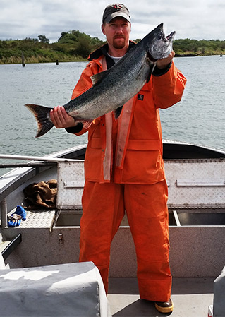 Tony Caught This Salmon With Guides Choice Herring